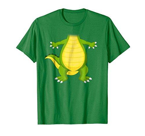 (Mens Cute Dragon or Dinosaur Costume Halloween Shirt XL Kelly)