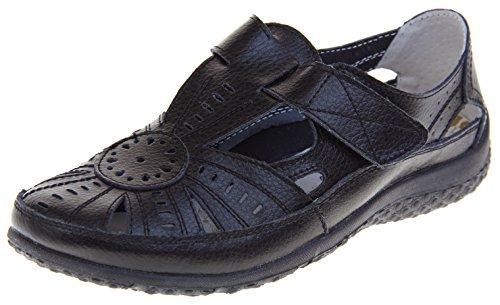 Footwear Studio Coolers Premier Chaussures Femme Mary Janes Sandales Cuir Noir hjI2h