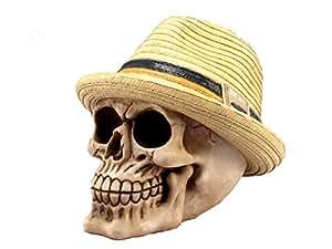 """Fedora sombrero de Panamá figura decorativa de calavera 53/4""""H sy-29"""