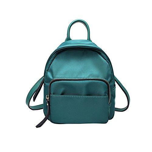 WTUS Mujer nuevo estudiante de Oxford hombros bolsos de estilo occidental de moda mini mochila mochila Joker Azul