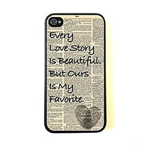 QJM iPhone 4/4S compatible Graphic/Special Design Back Cover
