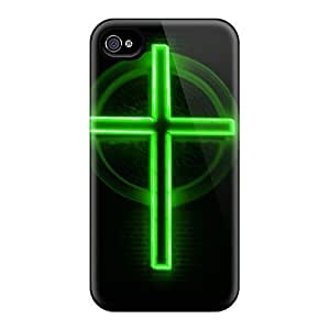 Forever Collectibles Neon Cross Hard Snap-on Iphone 4/4s Case by icecream design
