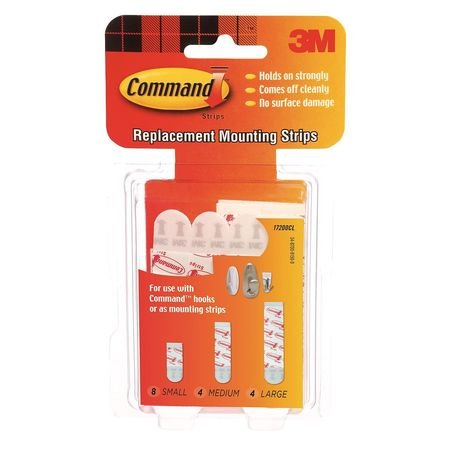 Assorted Replacement Strip, Foam, PK16 by Command