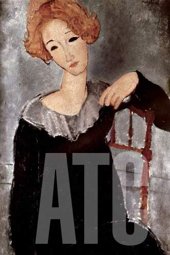 ArtToCanvas 24W x 36H inches : Woman with Red Hair by Amedeo Modigliani - Framed Canvas