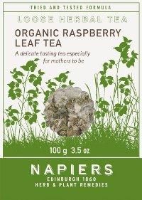 - Napiers Organic Raspberry Leaf Organic - 100g