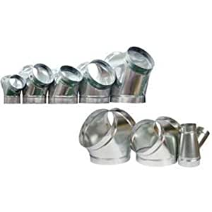 Y connectors duct fittings inline fan ventilation air - Bathroom exhaust fan duct reducer ...