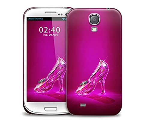 Glass slipper, Cinderella style shoe, for Ultra Slim Fit Plastic Protective Hard Back Phone Case Cover for Samsung Galaxy S4 (Cinderella Phone Cases Galaxy S4)