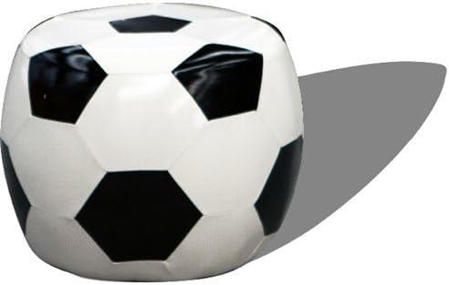 Puf Balon Futbol Negro 45 cm 17930MD: Amazon.es: Hogar
