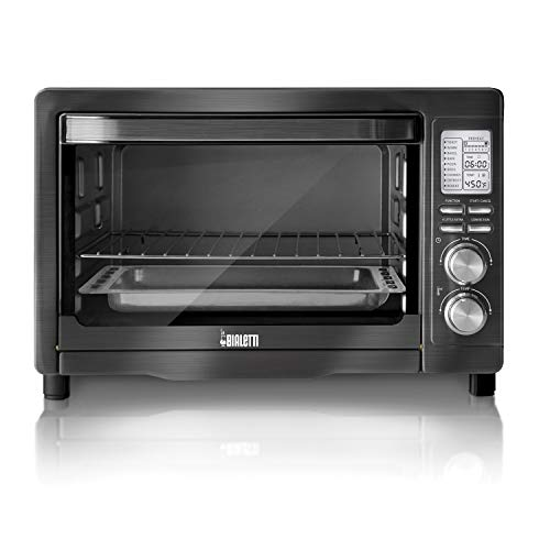Bialetti (35047) 6-Slice Convection Toaster Oven, Black Stainless Steel ()