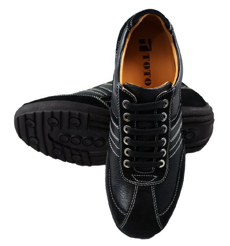 Toto-a66351-7,1cm Grande Taille-Hauteur Augmenter Chaussures ascenseur chaussures Décontracté (Noir)