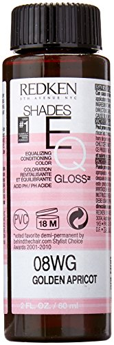 Redken Shades EQ Gloss for Women Hair Color, Golden Apricot, 2 Ounce