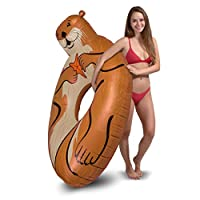 GoFloats Sea Otter Party Tube Inflatable Raft | Fun Pool Float for Adults and Kids