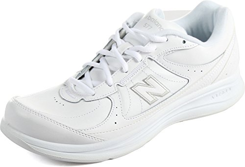New Balance Men's MW577 White Walking Shoe 11.5 D(M) US MW577-Leather-Lace