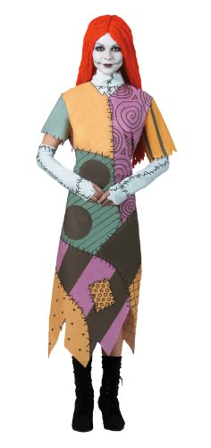 Night Before Christmas Costumes (Disguise Women's Tim Burton's The Nightmare Before Christmas Sally Classic Costume, Mulit, 7-9)