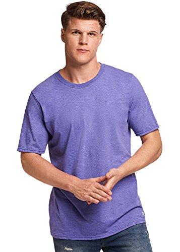 Russell Athletic Men's Basic Cotton T-Shirt, Retro Heather Purple, 3XL