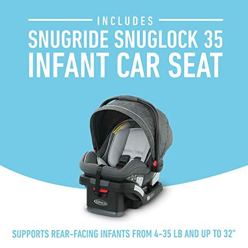 41EpjT0k2 L - Graco Modes Bassinet Travel System | Includes Modes Bassinet Stroller And SnugRide SnugLock 35 Infant Car Seat, Wynton