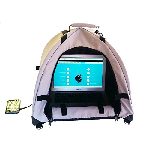Laptop Shade - LapDome - Portable Sun Shade & Weather Protecting Carrying Case for Laptop / Tablet / Cell Phone