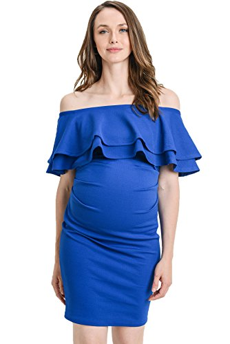 Baby Shower Cocktail Party - LaClef Women's Off Shoulder Maternity