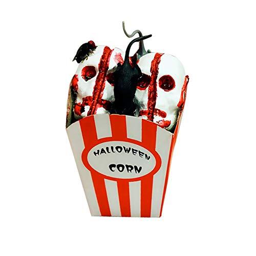 MacRoog Halloween Popcorn Horror Pops Home Decoration Bloody Cooking