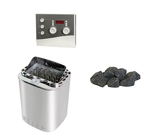 ABATEC Sawo Nordex Combi Sauna Horno Sentiotec 8 kW con piedras de ...