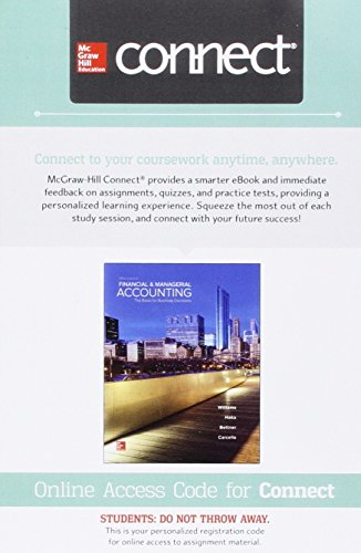 Connect Access Card for Financial and Managerial Accounting