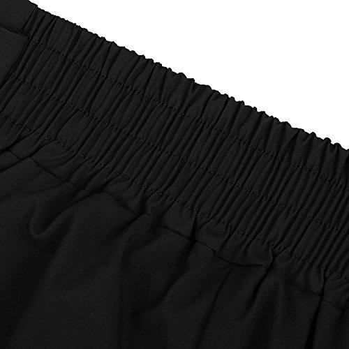 Unie Couleur Travail Noir De Pantalons Cargo Magiyard Haute Femme Décontracté Taille Pantalon STZY0wa