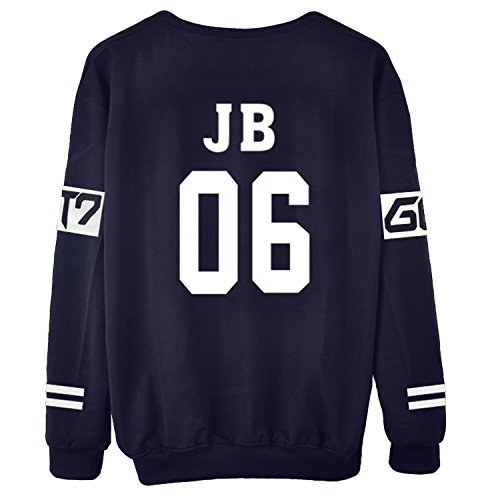 Dolpind Womens Kpop GOT7 All Members Sweater Casual Summer Dress Pullover Sweatershirt