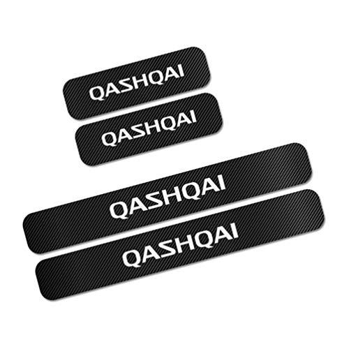 Voor Nissan Qashqai Drempel Bescherming Sticker Koolstofvezel Sticker Decoratieve Deur Instaplijsten Deur Drempel…