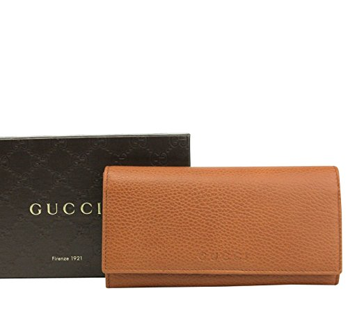 Gucci Continental Long Wallet - Gucci Long/Continental Dark Orange Leather Wallet with Logo 346058 7614