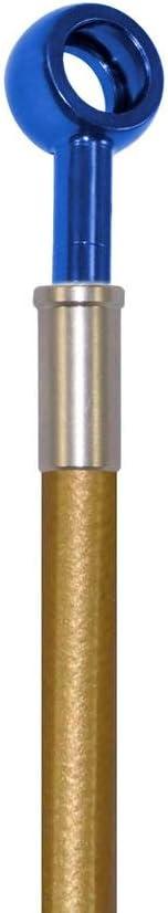 Gold Hose /& Stainless Blue Banjos Pro Braking PBF4217-GLD-BLU Front Braided Brake Line