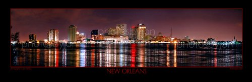 New Orleans Skyline PHOTO PRINT UNFRAMED CHOOSE FROM FOUR STYLES 11.75 inches x 36 inches Photographic Panorama Poster Picture Standard Size