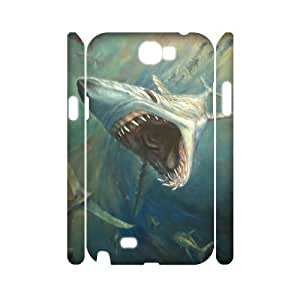 ALICASE Hard case Deep Sea Shark 3D Diy For Case Iphone 4/4S Cover [Pattern-1]