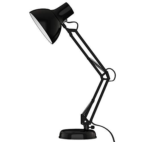Arm Adjustable Swing Desk Lamp (ToJane Black Desk Lamp, Adjustable Swing Arm Small Desk Lamp Office, Architect Table Lamp Clamp(Bulb Sold Separate))