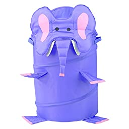 RedmonUSA Redmon for Kids The Original Bongo Bag Elephant Pop Up Hamper, Purple
