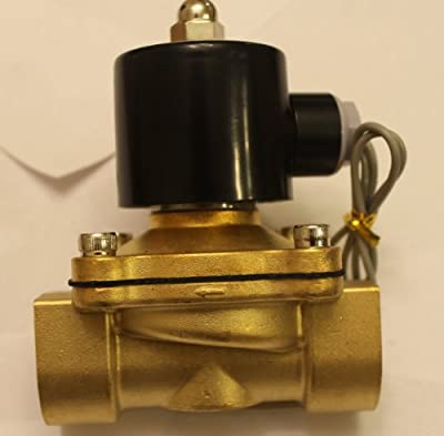 1 Inch Solenoid Valve 12v DC Brass Electric Air Water Gas Diesel Normally Closed NPT High Flow by Solenoid Valve Guy