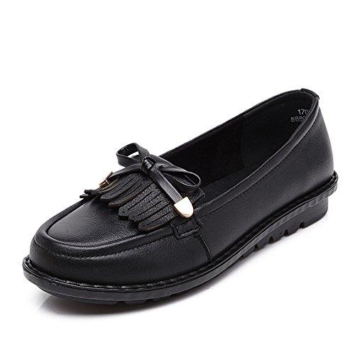 Zapatos de damas casual/Zapatos cuñas talla media edad/Mamá y fondo suave zapatos/Zapatos de las señoras A