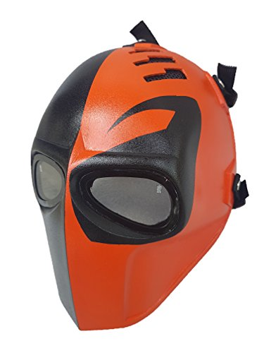 Airsoft Mask,Paintball Mask, Protective Gear,Deathstroke Full Face Mask,Outdoor Sport Fancy Party Masks ()