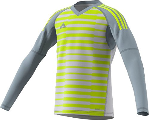 - adidas AdiPro 18 GK Youth Long Sleeve Jersey (Small, Light Grey/Grey ONE/SEMI Solar Yellow)