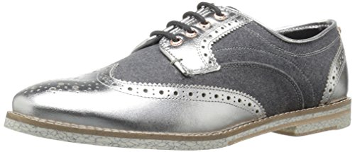 Ted Baker Women's Anoihe Oxford, Silver, 9 M US