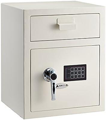 AdirOffice Digital Depository Safe 670-200-RED Digital Keypad Lock Lockout Mode Front Loading Red