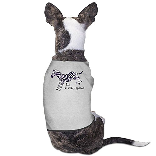 Skkoka Fashion Sleeveless Pet Supplies Dog Cat Clothes End Ehlers-Danlos Syndrome With Zebra Pet Apparel Clothing M Gray