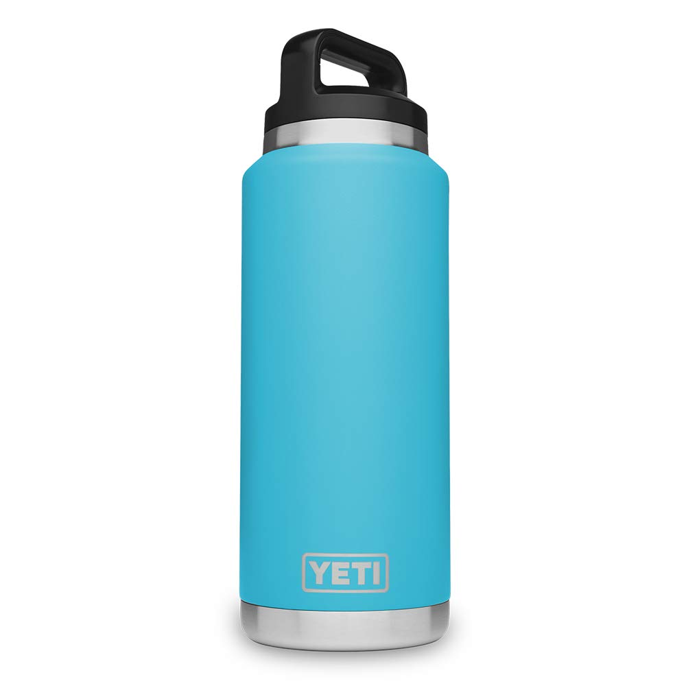 YETI Rambler 36 oz Stainless Steel Vacuum Insulated Bottle with Cap, Reef Blue