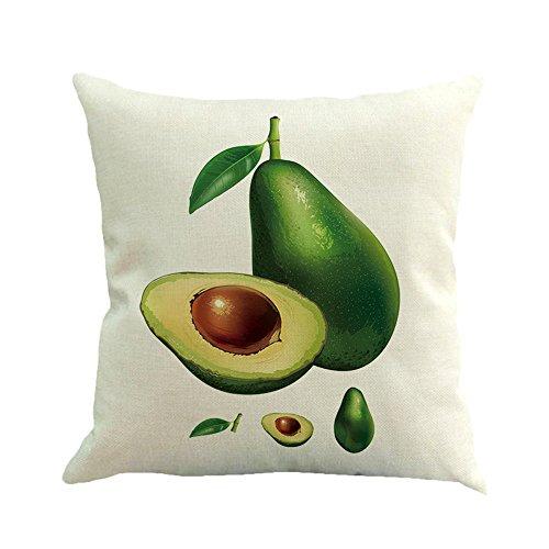 Throw Pillow Covers Christmas,HunYUN Sofa Home Decor Avocado Cotton Linen Cushion Cover Throw Pillow Case