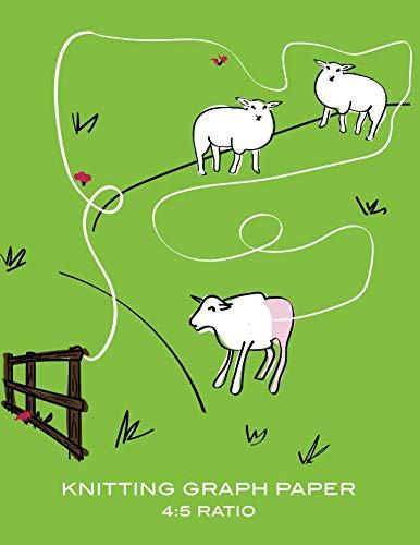 Knitting Graph Paper: Funny Sheep Wool Blank Knitter's Journal, 4:5 Ratio, Design Notebook