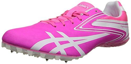 ASICS Women's Hyper-RocketGirl Sp 5 Track Shoe,Neon Pink/White,10 M - Womens Spike Velocity