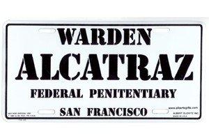 Gift House California License Plate - Warden Alcatraz Federal Penitentiary