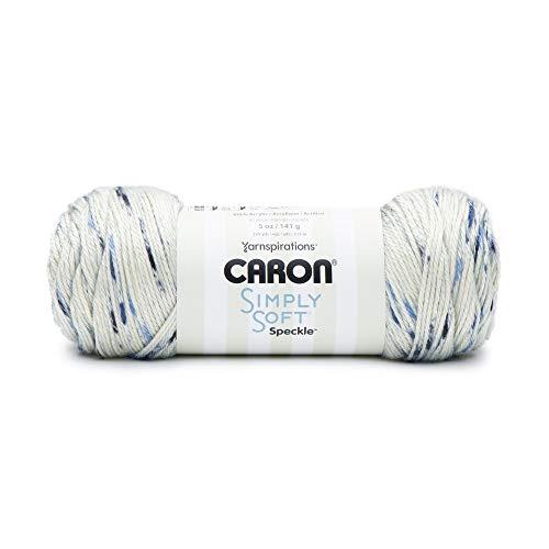 CARON 29496161010 Simply Soft Speckle Yarn, Blue Gingham