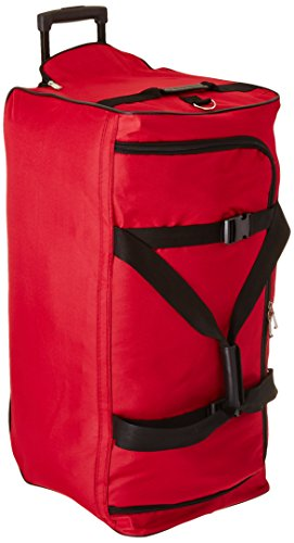 Rockland Luggage 30 Inch Rolling Duffle Bag, Red, Medium