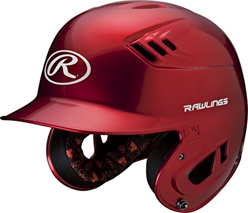 - Rawlings R16 Series Metallic Batting Helmet, Scarlet, Junior