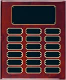 18 Plate Perpetual Plaque 10 1/2''x13'' FREE CUSTOM ENGRAVING Red Piano Finish with Black Plates